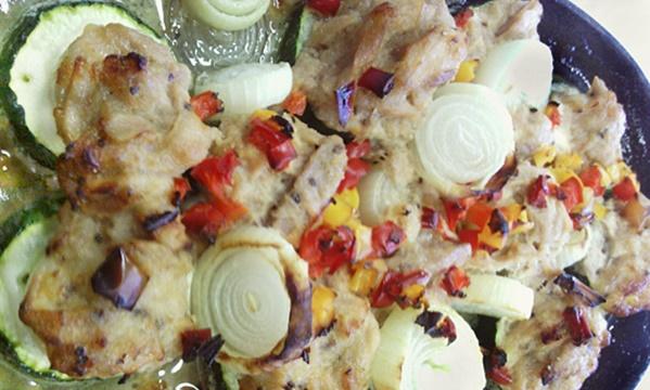 キッチンブー ズッキーニと鶏ミンチのグリル